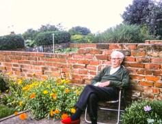 Dad in the Consett garden