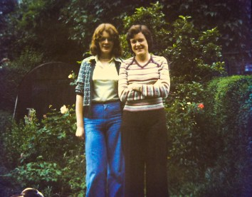 Elspeth and Anabel in the Consett garden