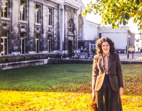 Anabel outside Southampton Library