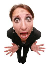 picture of woman screaming