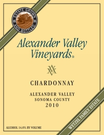 label for Alexander Valley Vineyards Chardonnay