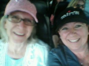 Lynne Marshall and I heading home on the FlyAway Bus from LAX. Blurry and giddy with exhaustion.