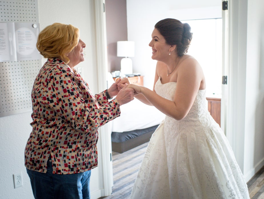 Bride and Mother before St. Philips Church Wedding