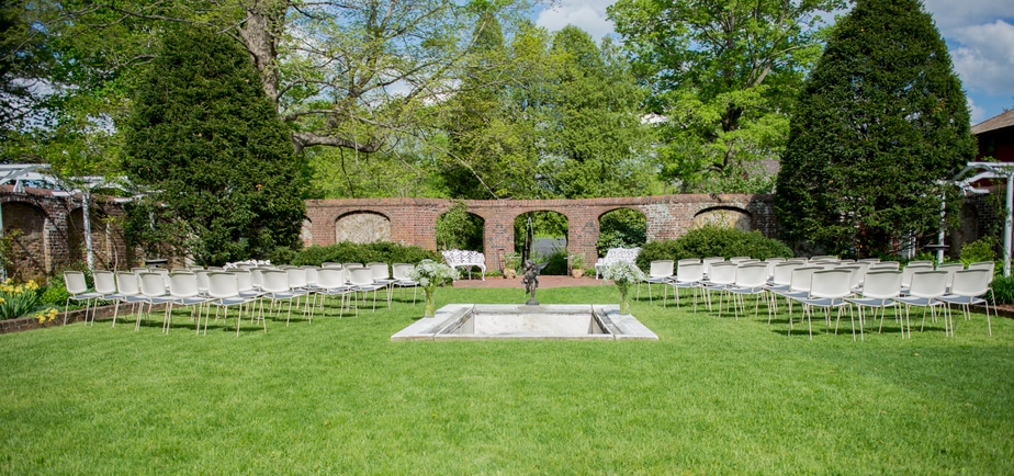 Ceremony Site Portrait at Keeler Tavern Museum in Ridgefield, CT
