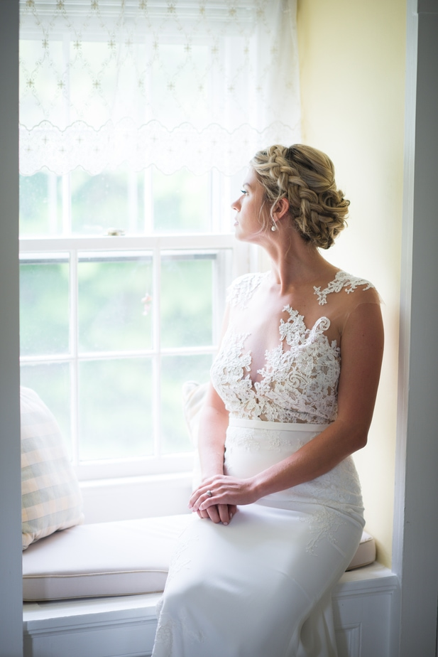 Connecticut Farm Wedding Bride Portrait