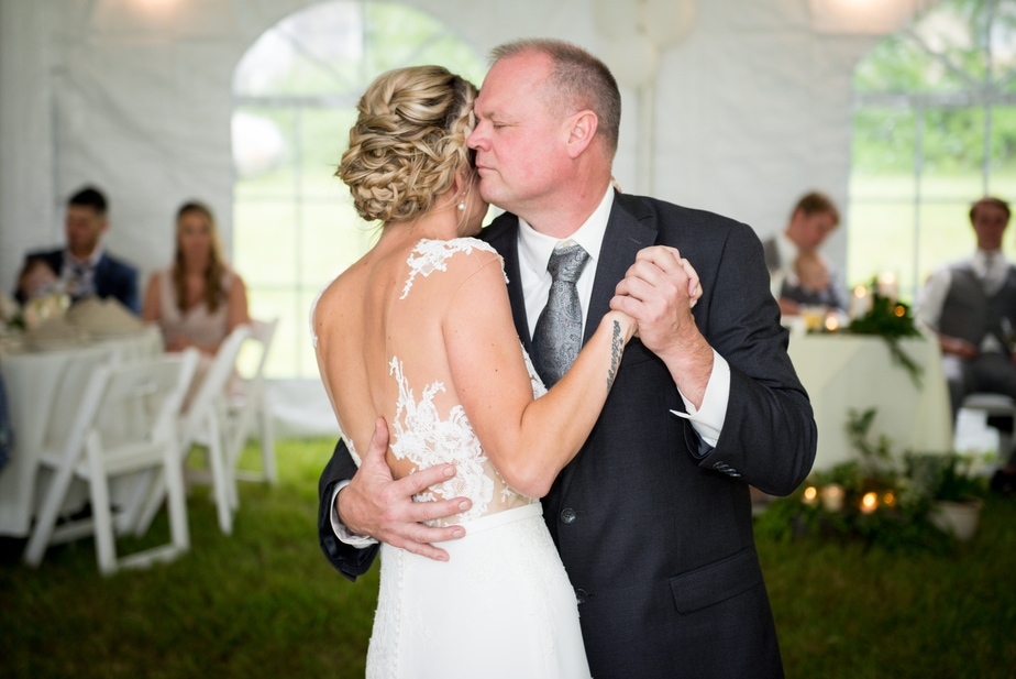 Connecticut Farm Wedding Photo First Dance