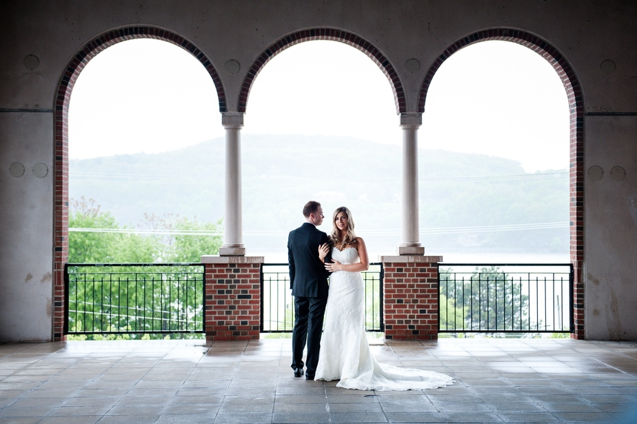 Kelly + CJ's Hudson Valley Wedding at the Poughkeepsie Grandview