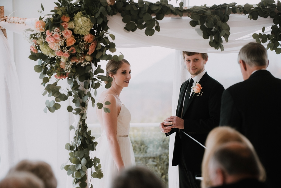 Bride Getting Ready Before a Garrison, NY Wedding