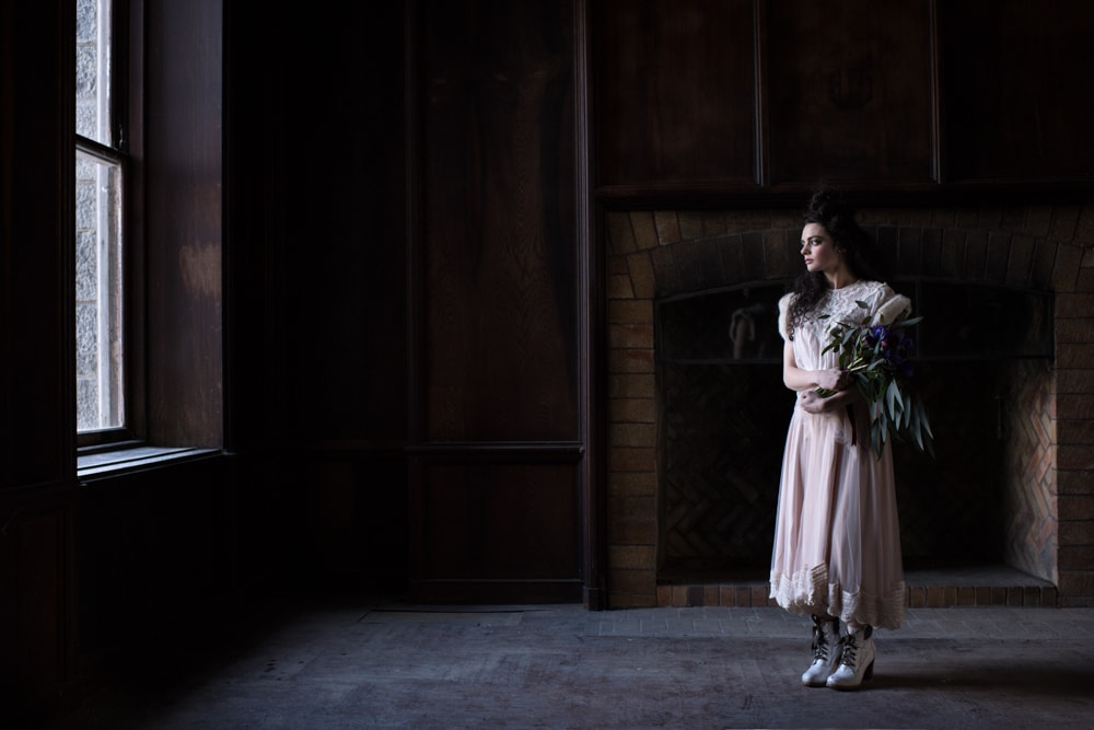 Dark and Moody Wedding Photography Shoot, Hudson Valley