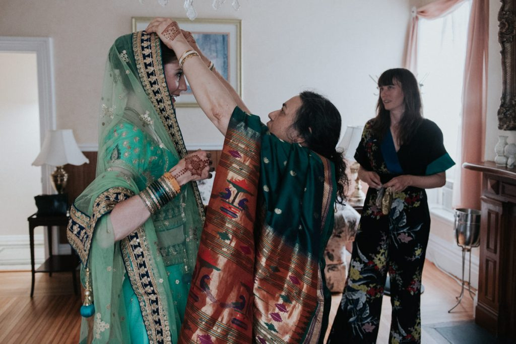 Dutchess Manor wedding photo of bride getting ready