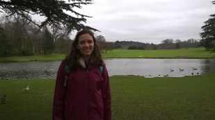 Me in front of part of the gardens around the castle