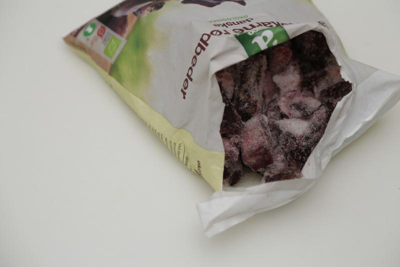 Økologiske frosne rødbeder Änglamark christinebonde blog
