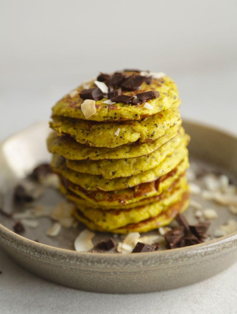 Citronpandekager med kokos og chokolade1