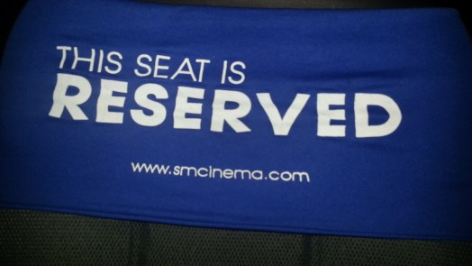 This seat is RESERVED