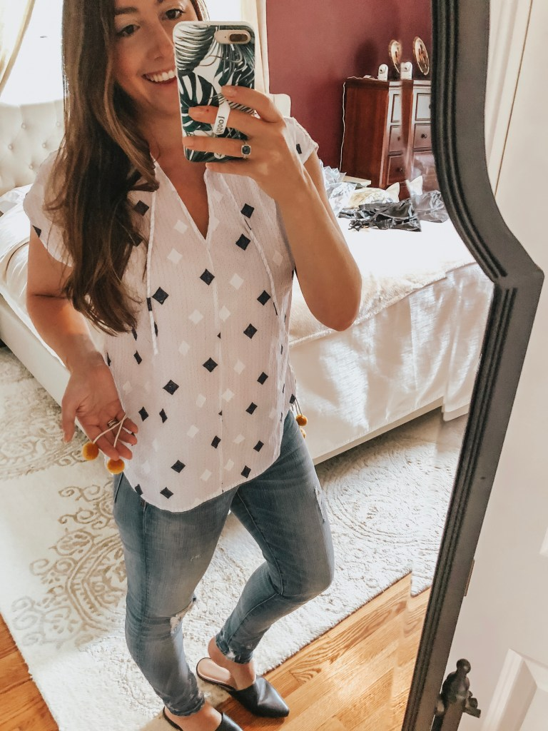 Nordstrom's Trunk Club service is like having your own personal stylist! Here's my Trunk Club Try-on with links to the products!