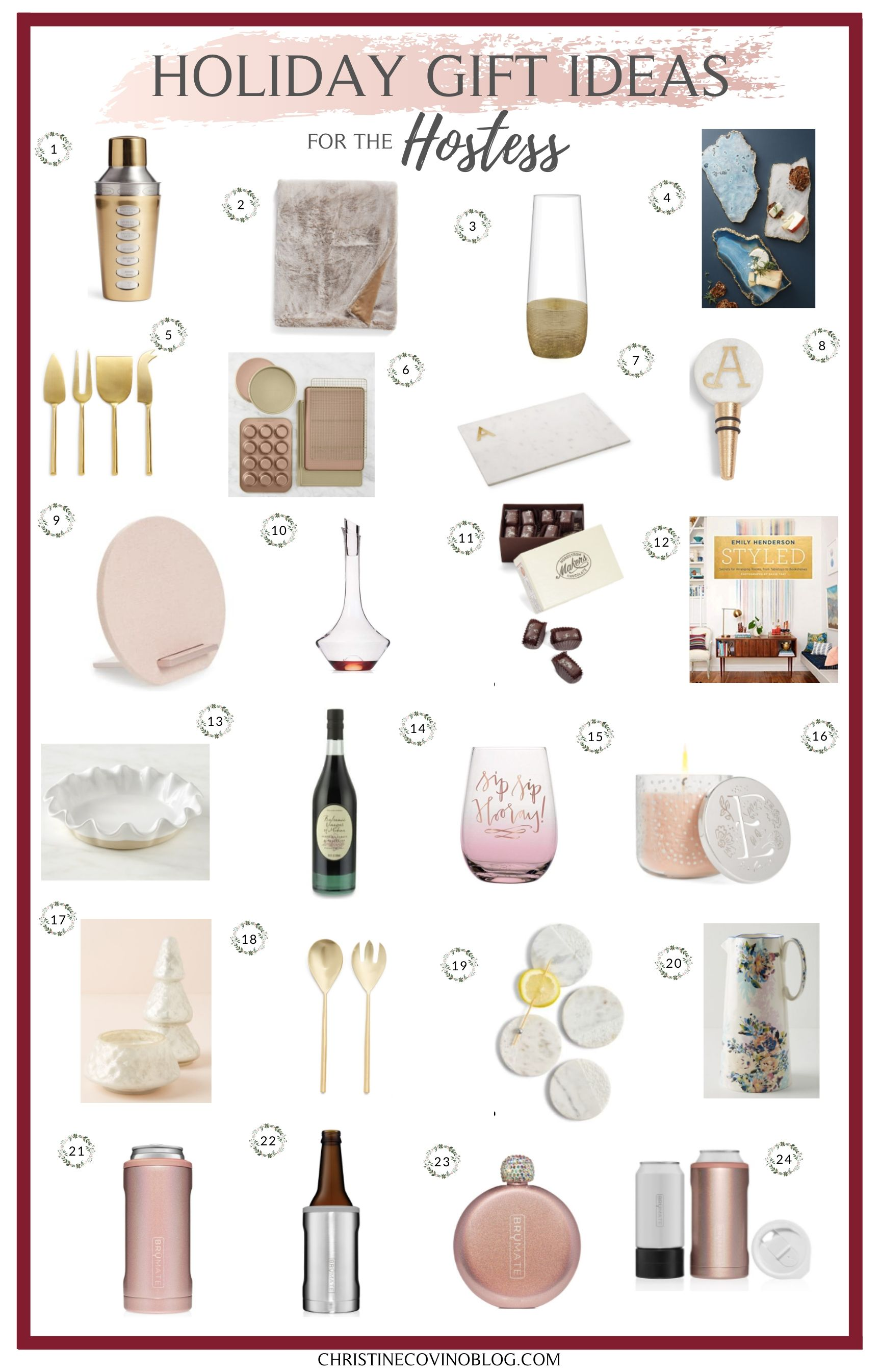 Attneding a holiday party this year and not sure what to get the hostess? Well these 30 unique and throughtful gift ideas for the hostess is a great start!