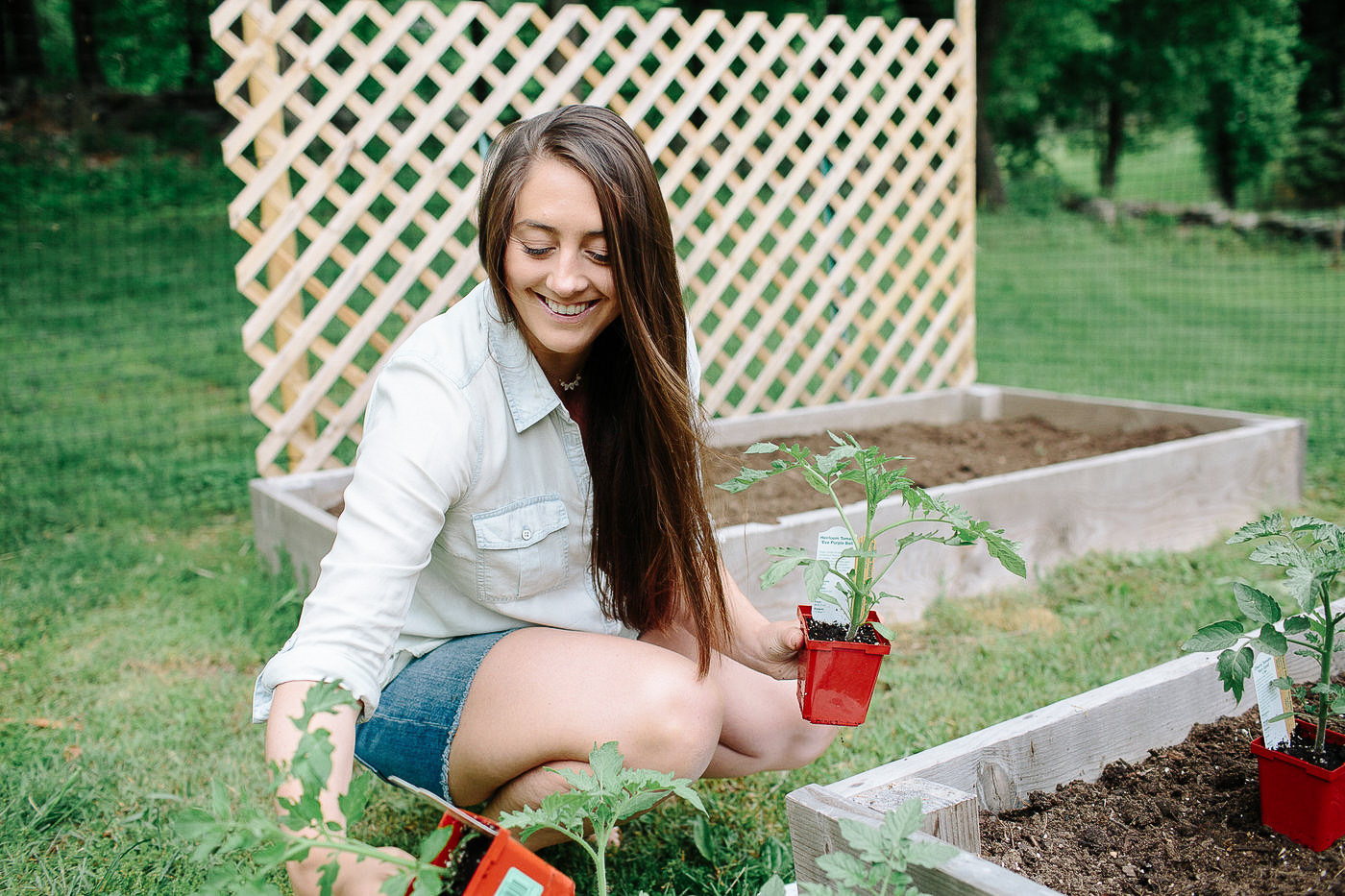 Christine Covino, Experienced gardener, getting ready to plant her Spring Garden