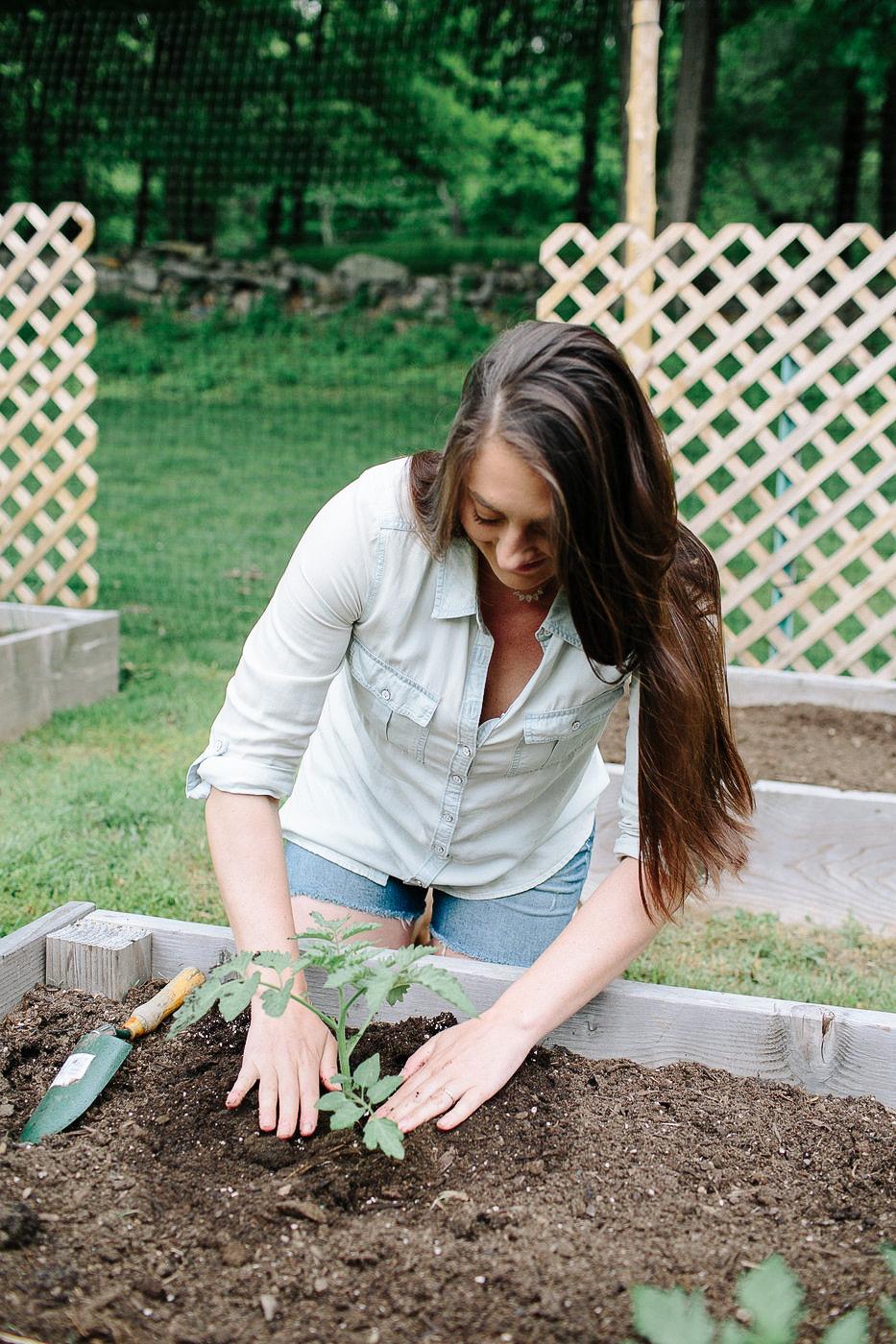 Christine Covino, Experienced gardener, sharing vegetable table garden tips