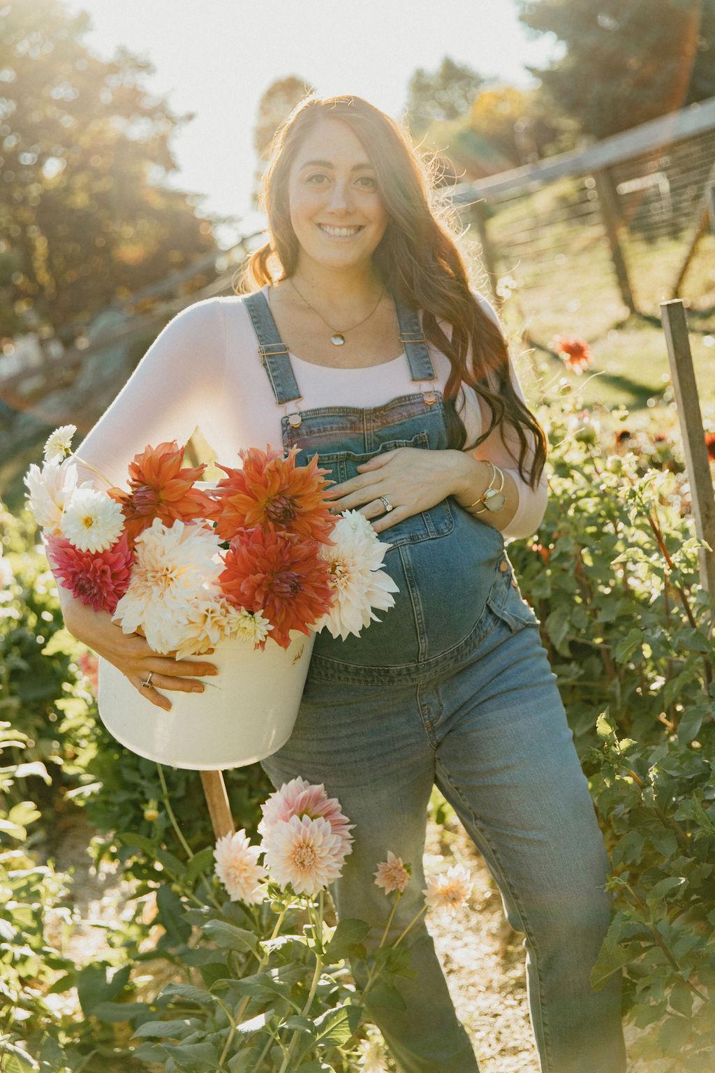 Christine Covino, Experience gardener, doing her spring gardening tasks