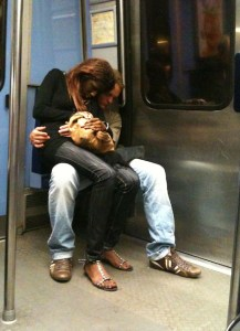 amoureux, metro,