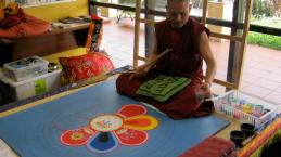 Sand mandala in Tamborine library