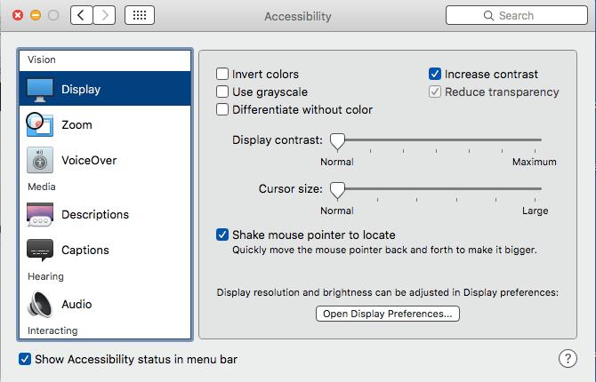 accessibility settings