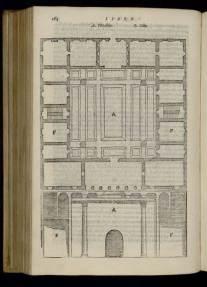 Palladio's reconstruction of the Roman House in Vitruvius' De Architectura (trans. Barbaro, 1567 edition) provided a model for his Santa Maria della Carità