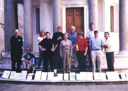Christine G. H. Franck and ICAA Rome Drawing Tour students at the Tempietto