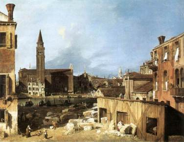 The Stonemasons' Yard by Canaletto (Circa 1725)