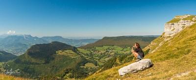 Vue sur Chambéry, le Revard, la Chartreuse... depuis le MArgériaz