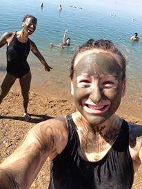 Mud masks at the Dead Sea