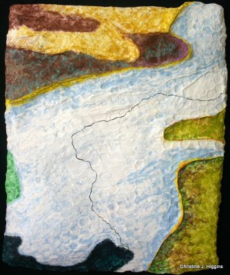 Annabesacook -Yes to Life-left side view - sculptural fiber