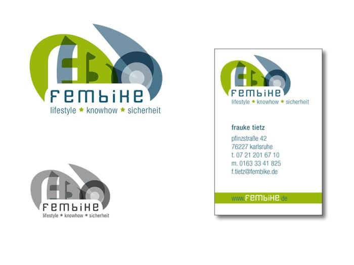 Logo Fembike Alternativentwurf | Design KERNgeschäft Christine Kern