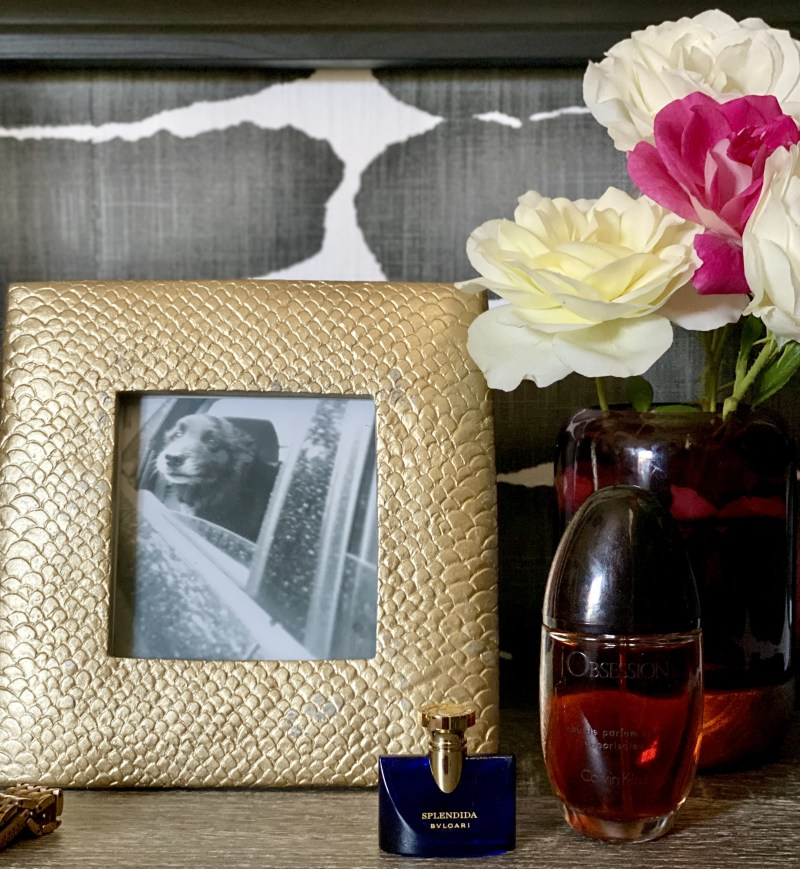 black and white art, gold picture frame, dog, photography, one room challenge, better homes and gardens, Christine Kohut Interiors, design ninja, project coast to coast, #ckprojectcoasttocoast