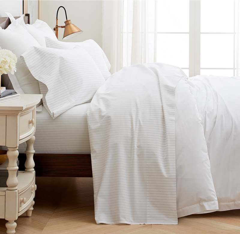 boll and branch, nordstrom, cotton percale sheets, thread count, bed, bedding, making the bed
