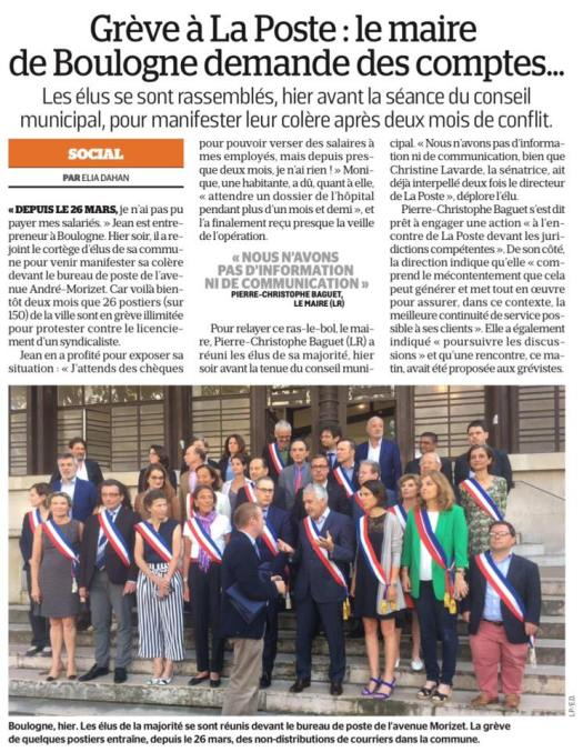 article parisien la Poste
