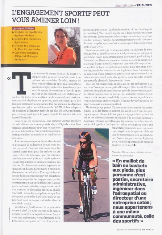 ITW sport feminin_la revue parlementaire_2019.07