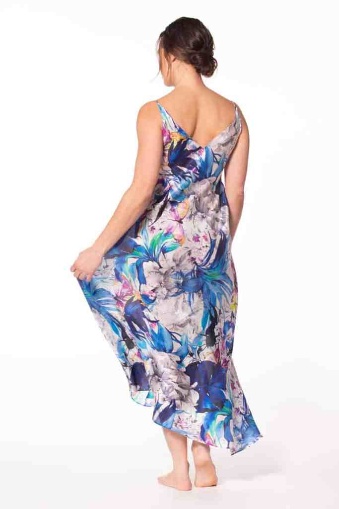Paradise Silk Gown Back View