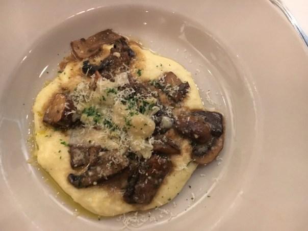 Funghi con Polenta Francesca's Restaurant