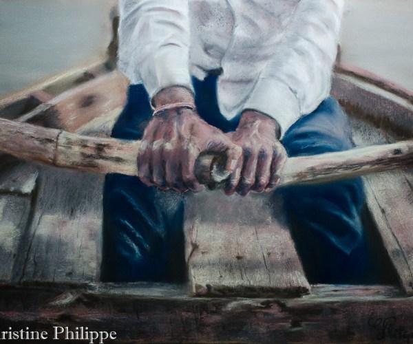 Souvenir – Rameur sur le Gange