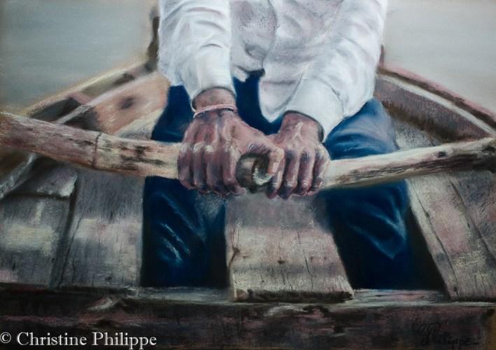 Souvenir - Rameur sur le Gange
