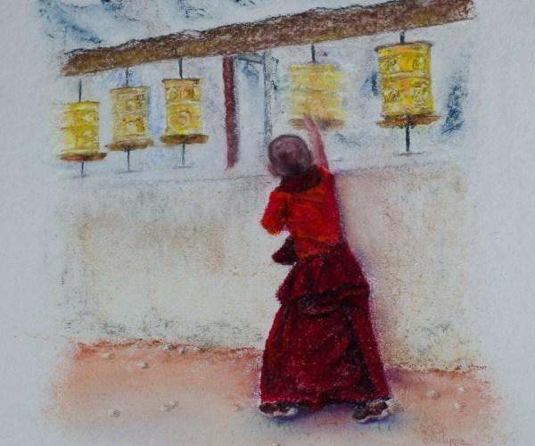 Enfant moine – Prières
