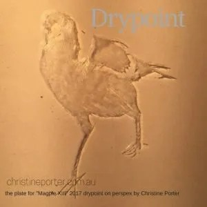 Drypoint Engraving Workshop with Australian Artist Printmaker Christine Porter