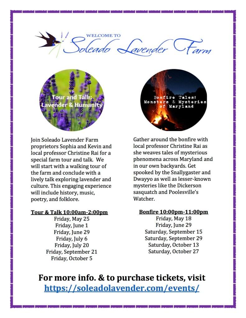 Soleado Lavender Farm events