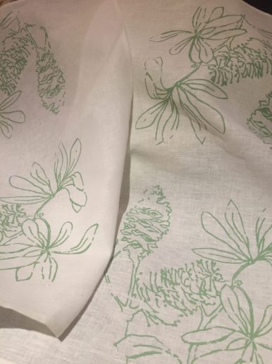 'Banksia' design tea towels $22 ea
