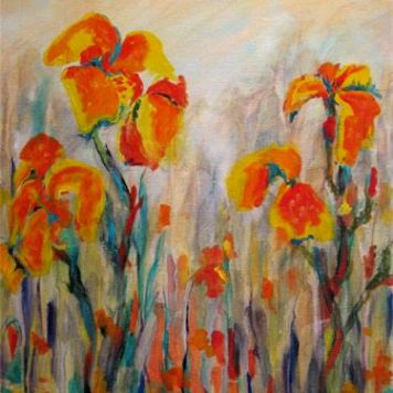 Cannas in the Rain (SOLD)
