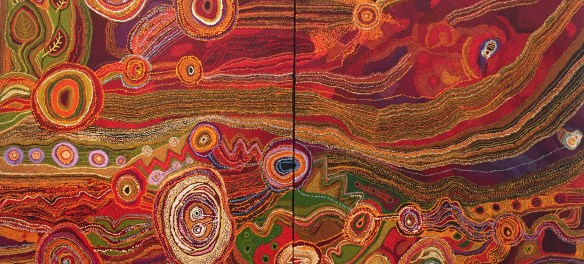 The fabulous winner of the Wynne Prize - a collaboration by the Ken sisters