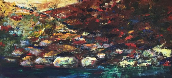 The Macquarie River, Dubbo - a favourite oil painting from 2001