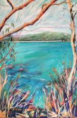 Tallebudgera Creek 1 Commission acrylic on linen 91 x 61 cm