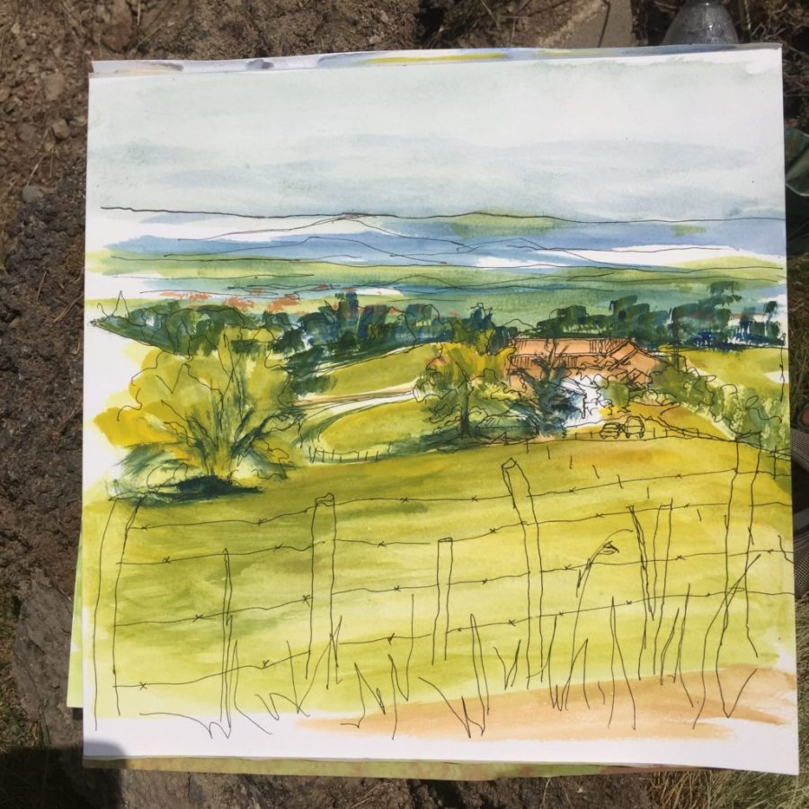 French farm sketch